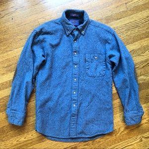 vintage pendleton wool collared button shirt